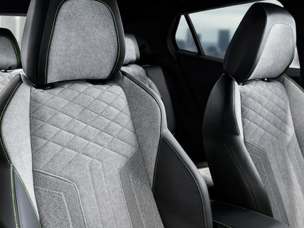 ALL-NEW PEUGEOT e-2008 electric SUV: exclusive Alcantara© Gréval Grey GT seats