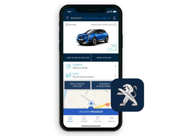 ALL-NEW PEUGEOT e-2008 SUV: MyPeugeot® app