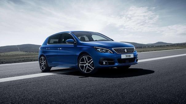 Peugeot 308 blue