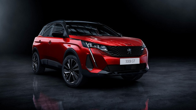 New PEUGEOT 3008 SUV – Black pack option front view