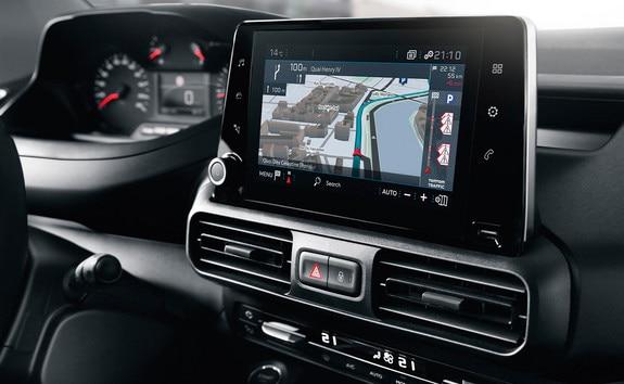 "NEW PEUGEOT PARTNER connected 3D navigation Mirror Screen technology 8"" touch-screen"