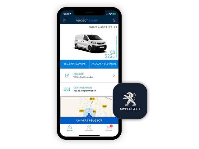 PEUGEOT e-Expert – MyPeugeot app